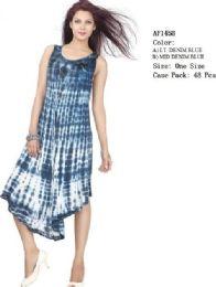 48 Units of Rayon Dress Enzyme Denim Wash Assorted - Womens Sundresses & Fashion