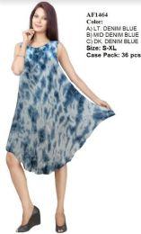 36 Units of Enzyme Wash Tie Dye Rayon Dresses - Womens Sundresses & Fashion
