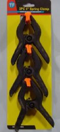 72 Units of Black plastic spring clamps - Clamps