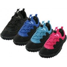 """36 Units of Children's Lace Up """"Wave"""" Water Shoes - Unisex Footwear"""