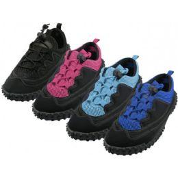 "36 Units of Women's Lace Up ""wave"" Water Shoes - Women's Aqua Socks"