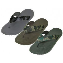 "36 Units of Men's ""real"" Sport 3 Tone Color Sandals - Men's Flip Flops and Sandals"