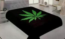 4 Units of One Ply Marijuana Leaf Graphic Queen Blanket - Fleece & Sherpa Blankets