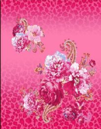 4 Units of Pink Floral Millennium Queen one ply blanket - Fleece & Sherpa Blankets