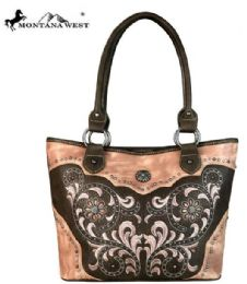 2 Units of Montana West Concho Collection Tote Coffee - Handbags