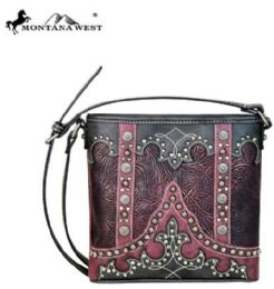 4 Units of Montana West Tooled Collection Cross Body - Handbags