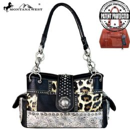 2 Units of Montana West Safari Concho Collection Concealed Carry Satchel - Handbags