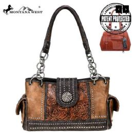 2 Units of Montana West Concho Collection Concealed Carry Satchel - Handbags