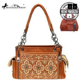 2 Units of Montana West Embroidered Collection Concealed Carry Satchel - Handbags