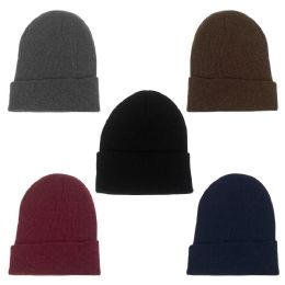 48 Units of Unisex Winter Beanie In 5 Assorted Colors - Winter Hats