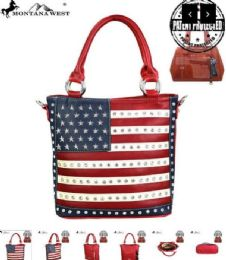 2 Units of Montana West American Pride Concealed Handgun Collection Tote - Handbags