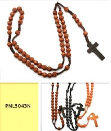 96 Units of MULTI ROSE BEAD ROSARY - Necklace