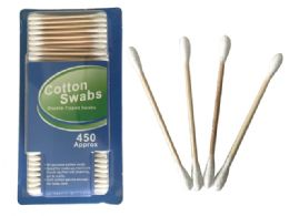 72 Units of 450pc Wooden Cotton Swabs - Cotton Balls & Swabs