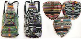 "10 Units of Nepal Cotton Hand Made Backpack Heart Shaped - Backpacks 15"" or Less"