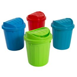 48 Units of Rubbish Bin Mini With Wing Lid 5.25 X 7 In - Waste Basket