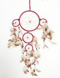 120 Units of 5 Hoop Dream Catcher In Assorted Color - Home Decor