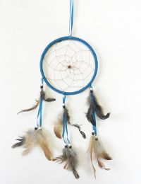 48 Units of Large Single Hoop Dream Catcher In Assorted Colors - Home Decor