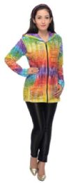 5 Units of Nepal Handmade Cotton Jackets with Hood Rainbow Colors - Women's Winter Jackets