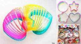 72 Units of Rainbow colors Magic Spring - Slime & Squishees
