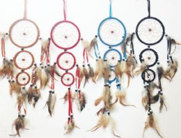 36 Units of 3 Hoop Dream Catcher Collection In Assorted Colors - Home Decor