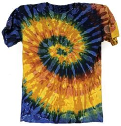 12 Units of Tie Dye T Shirt Galaxy Multicolors Assorted Sizes - Girls Tank Tops and Tee Shirts