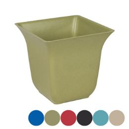 36 Units of Square Bamboo Planter With Fluted Top - Garden Planters and Pots