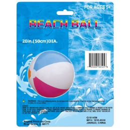 72 Units of Inflatable Beach Ball - Beach Toys