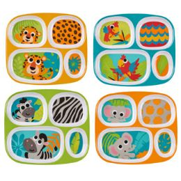 48 Units of Dinnerware Kids - Plastic Bowls and Plates