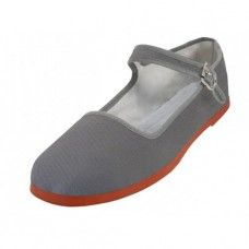 36 Units of Women's Classic Cotton Mary Jane Shoes (gray Color Only) - Women's Flats