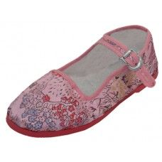 36 Units of Miss Satin Brocade Upper Mary Janes Shoe ( Pink Color Only) - Women's Flats