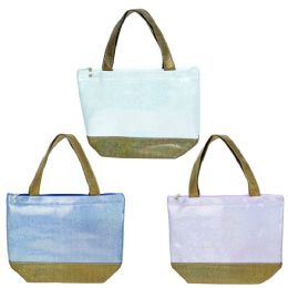 24 Units of Wholesale Insulated Lunch Bag In 3 Assorted Colors - Lunch Bags & Accessories