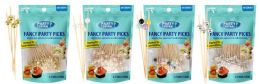 48 Units of Fancy Party Picks 50 Count Mixed Pearl Color Tops - Party Paper Goods
