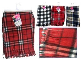 144 Units of Plaid Women Assorted Colors Scarf - Winter Scarves