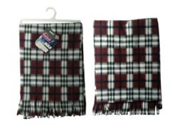 144 Units of Plaid Thick Scarf - Winter Scarves