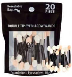 48 Units of Double Tip Eye shadow Wands 20count Resealable Bag - Eye Shadow & Mascara