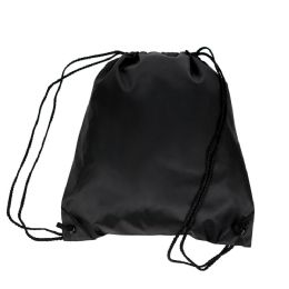 50 Units of Drawstring Backpacks in Black - Draw String & Sling Packs