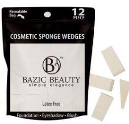 48 Units of Cosmetic Sponge Wedges 12 Piece Count - Eye Shadow & Mascara