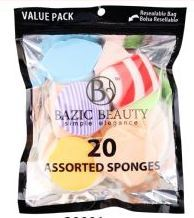 36 Units of Make-Up Blender Sponges Resealable bag 20 Piece count , Assorted colors - Eye Shadow & Mascara