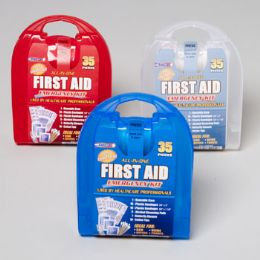 33 Units of First Aid Kit 35 Pcs In Plastic Case - First Aid and Bandages