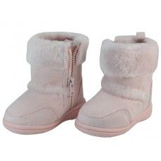 24 Units of Youth's Winter Boots With Faux Fur Lining And Side Zipper - Girls Boots