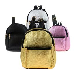 "24 Units of Wholesale 10"" Cute Mini Glitter Backpack in 4 Assorted Colors - Backpacks 15"" or Less"