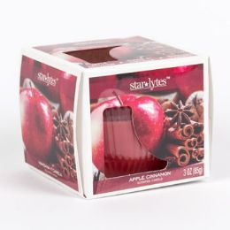 12 Units of Candle Scented Elegant Window Boxed Apple Cinnamon - Candles & Accessories