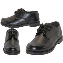 24 Units of Big Boy's Black Lace Up School Shoe - Boys Shoes