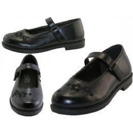 24 Units of Big Girl's Mary Janes Black School Shoe - Girls Shoes