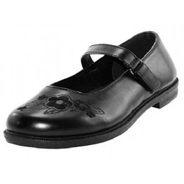 24 Units of Youth's Black Mary Jane School Shoes - Girls Shoes