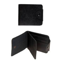 24 Units of Wholesale Men's Wallet Bill Fold in Black - Wallets & Handbags