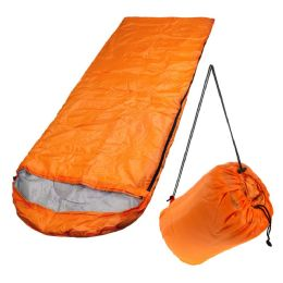10 Units of Wholesale Polyester Hollow Fiber Heavy Duty Hooded Sleeping Bag in Orange - Camping Sleeping Bags