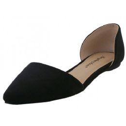 "12 Units of Women's ""angeles Shoes"" Slip On Ballet Flat ( *black Color - Women's Flats"