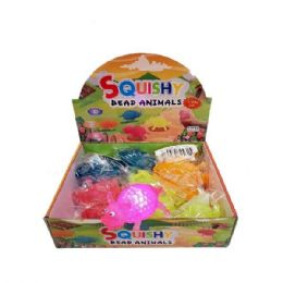 24 Units of SQUISHY BEAD FLASHING ANIMALS - Slime & Squishees