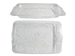 48 Units of CrystaL-Like Rectangular Tray - Serving Trays